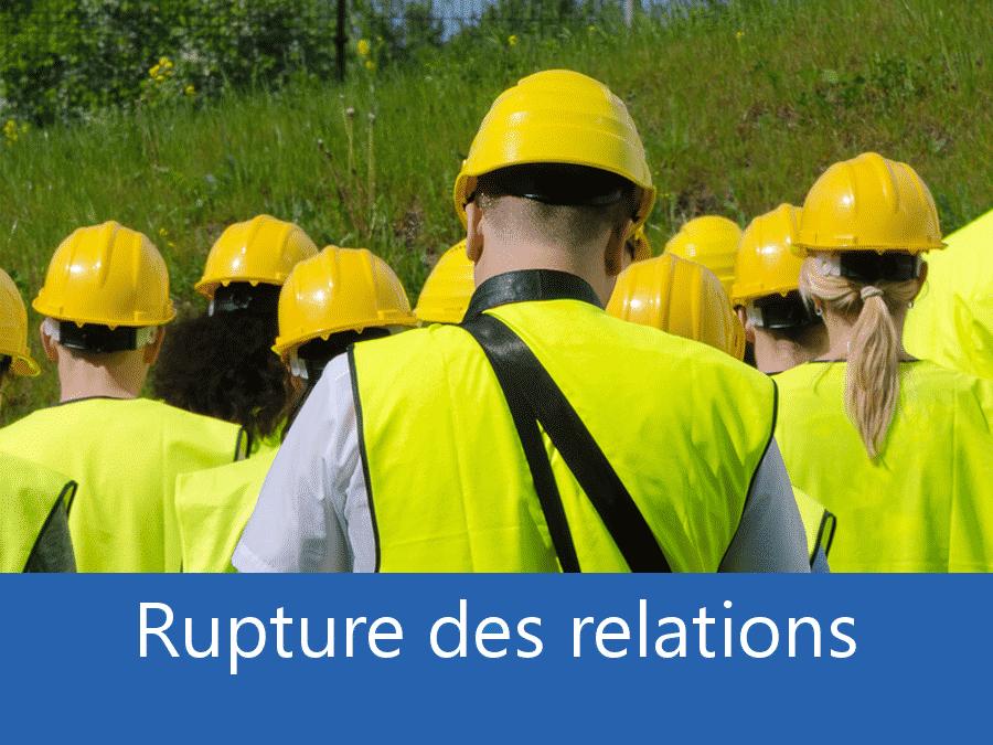 rupture des relation chantier 76, problème durant le chantier Dieppe, stress chantier Rouen, problème durant le chantier La Seine-Maritime,